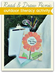 Read and draw outside. Great summer reading activity and works on reading comprehension too!