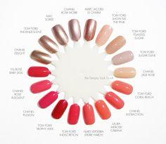 Tom Ford Spring Nail Polish Comparisons to Chanel, MAC, Marc Jacobs, NARS, YSL and Laura Mercier