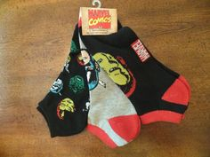 NWT Mens Marvel Comics CAPTAIN AMERICA Set of 3 Ankle Socks Fits US Shoes 6 - 12 #Marvel #Casual