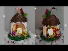 Bonito ADORNO NAVIDEÑO Utilizando Una Botella Plástica. 🎄 - YouTube Christmas Crafts, Xmas, Christmas Ornaments, Fairy Houses, Interior Design Living Room, Gingerbread, Make It Yourself, Holiday Decor, Diy