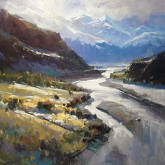 """Rees Valley by Richard Robinson Oil ~ 20"""" x 20"""""""