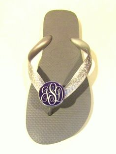Monogram  Havaiana flip-flops --Also  makes great personalized gift.. swagstamp.com
