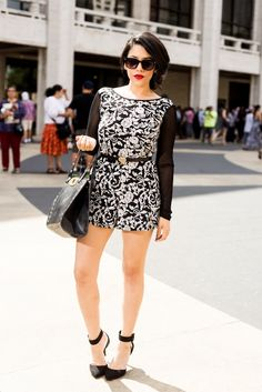 A Love Affair With Fashion : NYFW Day 4: Black & White At Reward Style