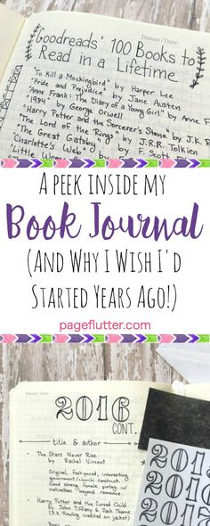 A Peek Inside My Reading Journal (& Why I Wish I'd Tried Years Ago)| pageflutter.com