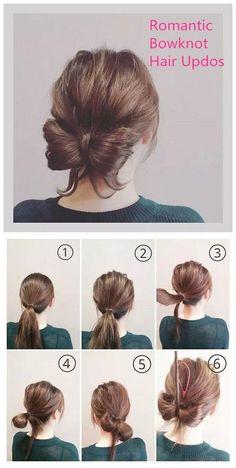 Romantic Bowknot Hair Updos