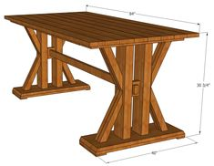This French Farmhouse Table can be made easily with these free farmhouse table plans. This easy step by step tutorial shows you how to create this French farmhouse dining table. Cool Woodworking Projects, Learn Woodworking, Popular Woodworking, Woodworking Furniture, Wood Projects, Diy Furniture, Woodworking Plans, Woodworking Videos, Woodworking Machinery