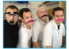 The guys at the Country Kitchen - getting into the Movember spirit!