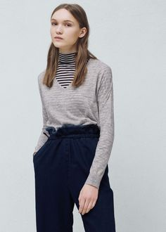 V-neck sweater - Cardigans and sweaters for Women | MANGO USA