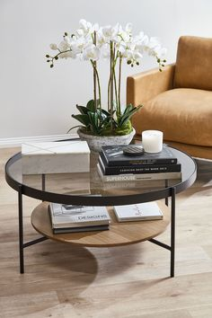 Glamour Steel Coffee Table by Oslo Home. Get it now or find more Coffee Tables at Temple & Webster. Round Glass Coffee Table, Steel Coffee Table, Coffe Table, Coffee Table Styling, Small Space Coffee Table, Round Coffee Tables, Side Table Styling, Glass Tables, Steel Table
