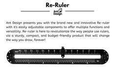 Re-ruler: One ruler to rule them all by Ant Design — Kickstarter Edc Gear, You Draw, Ant, Ruler, Budgeting, Innovation, Design, Budget Organization