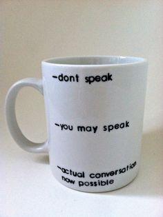 Don't Speak Funny Coffee Mug 11 oz by ChantillyStay on Etsy