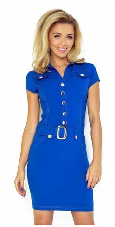 Τι νούμερο φοράει το μοντέλο; Το μοντέλο είναι 1,76 μ/ ύψος και φοράει Small Υλικό: 70% wiskoza 30% poliester Υλικό υψηλής ποιότητας. -Made in the EU. Latest Fashion Trends, Trendy Fashion, Fashion News, Womens Fashion, Day Dresses, Blue Dresses, Dresses For Work, Cornflower Blue Dress, Bodycon Dress