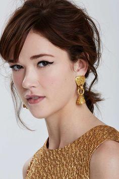 Vintage Chanel Fretwork Bell Earrings