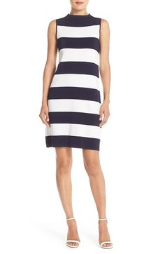 Eliza J Stripe Shift Sweater Dress (Regular & Petite) available at #Nordstrom