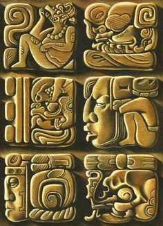 Perfect site for my polymer Maya project  Katriona Chapman Illustration Blog: Mayan art