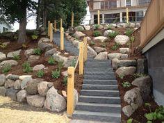 ... Steep Backyards, Steep Front Yard Landscaping, Steps Hill Steep, Steep