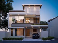 10 Marla Exterior on Behance Modern Exterior House Designs, Best Modern House Design, Modern House Facades, Modern Architecture House, Minimalist House Design, Contemporary Home Exteriors, Modern Bungalow Exterior, Latest House Designs, Exterior Design