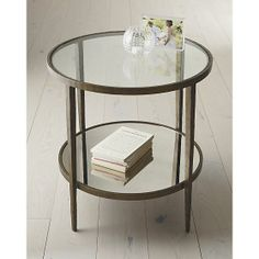 Amazing Glass side tables for living room . elegant glass side tables - Elites Home Decor Side Table Decor, Glass Side Tables, Round Side Table, A Table, Coffee Table Crate And Barrel, Copper Coffee Table, Side Coffee Table, Interior Design Living Room, Living Room Designs
