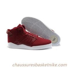 Chaussures Supra Skytop III Mid Beaux Hommes Blanc Noir Rouge Fabulous |  Chaussures Basket Nike | Pinterest | Supra skytop