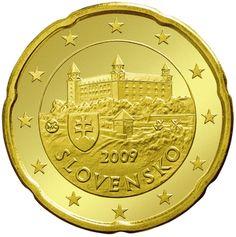 Bratislava castle on 20 cent Euro coin