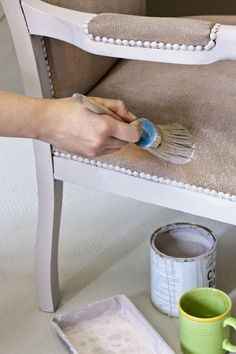 Colour Recipes for Painted Furniture and More by Annie Sloan_ _2 painting upholstery with Chalk   Paint™_3