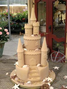 Sand Castle Wedding Cake  on Cake Central