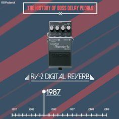 The RV-2 was the world's first digital reverb pedal, another first for BOSS  #BOSS #RV2 #stompbox #delay #bosspedals #pedalboard #pedals #guitareffects #guitargear #guitarfx #effectsunit #rolandboss #bossloop #gearnerds #guitarpedals #pedalporn #pedalgeek #knowyourtone  #pedalgram #boss_uk #bossfx