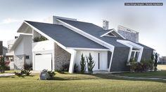 Shingle House by Ramella Architects Minimalist House Design, Modern House Design, Modern Minimalist, Contemporary Design, Facade House, House Roof, Architecture Design, Roof Design, Modern Exterior