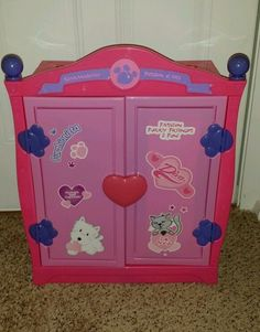 Build A Bear Pink Armoire Closet Trunk Storage Retired Rare! GUC