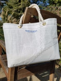 Windward Sailbags exclusively uses retired sails as the primary material in our fun and functional bags. Because they are made from decommissioned sails , each bag is unique and may feature varying sail elements such as grommets and batten sleeves, or various imperfections due to normal use of the sail. | eBay!