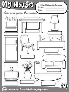 Free worksheets for kindergarten parts of the house with english my house picture dictionary 2 bw version ibookread ePUb