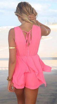 For the honeymoon.....Deep V-neck Sleeveless Beach Jumpsuit