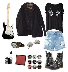 f3bc3649a by bullets-era on Polyvore featuring Dr. Martens