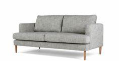 Kotka 2 Seater Sofa, Vintage Ink Cotton Mix