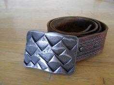 Mountain range belt buckle by ArtIronworks on Etsy