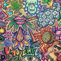 """Buy 1 Stoner's Coloring Book Get 1 Free! Today only at www.stonerscoloringbook.com! Use the code """"Smokeweed"""" to get colorful with these funky adult coloring books! The 36 mind-melting illustrations by 10 contemporary artists will send you straight to heady-heaven... Check it out! @stonercoloringbook @stonercoloringbook @stonercoloringbook by weedhumor"""