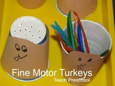 Fine motor turkeys