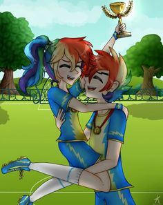 Rainbow Dash and Blitz (first place lovers winners)