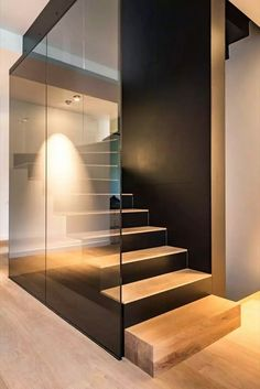 Obsessed with these modern stairs.