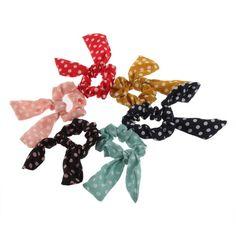 Japan Korean Stil Kaninchenohr Bogen Haarband Armband Hair Tie Bracelet 6 Farben