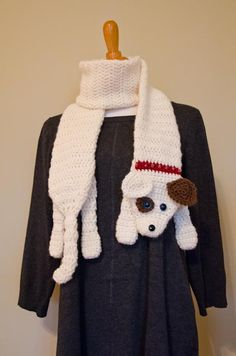 Crochet Dog Scarf available in 2 different by TheStitchingVet