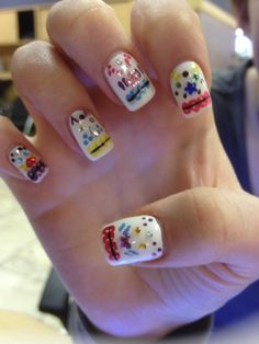Nail art by  theresa jiannotti at hello gorgeous salon and day spa in deptford NJ