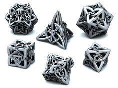 Celtic Dice Set 3d printed Games Dice 3D Render