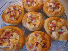 0827. minipizza od Anndy - recept pro domácí pekárnu Pizza, Eggs, Breakfast, Cake, Food, Morning Coffee, Kuchen, Essen, Egg