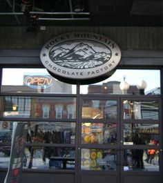 Rocky Mountain Chocolate factory!! downtown ottawa. Famous for amazing homemade chocolate, candy apple and chocolate covered pretzles! yep been here a few times