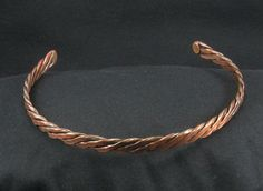 Choker necklace copper wire weave 001 by crquack on Etsy