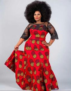 Plus Size Ankara Gown Styles African Dresses For Women, African Print Dresses, African Attire, African Wear, African Women, African Prints, African Style, African Models, African Fashion Ankara