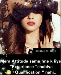 If u dnt understand this improve urs Attitude Thoughts, Attitude Quotes For Girls, Crazy Girl Quotes, Funny Girl Quotes, Good Attitude, Girly Quotes, Crazy Girls, Attitude Status, Sweet Quotes