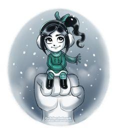 Winter Vanellope by daekazu.deviantart.com on deviantART ||| Disney, princess, Wreck-It Ralph, von Schweets