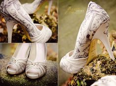 Personalized Bridal Heels by figgieshoes